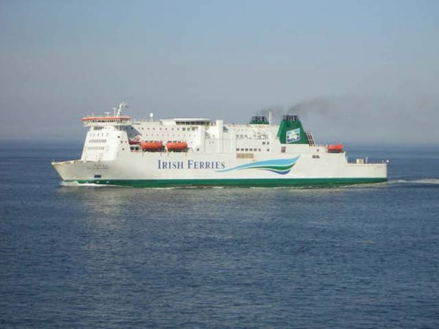 Irish Ferries' Isle of Inishmore sails the Rosslare-Pembroke route