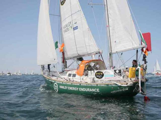 A 25,000 mile solo, non–stop journey lies ahead for Gregor McGuckin after the first four days of the Golden Globe Race