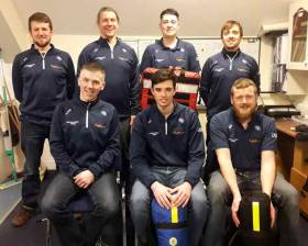Bundoran RNLI volunteers pictured back from left, Paul Gallagher, Finn Mullen, Oisin Cassidy, Chris Fox and front from left, Shane O Neill, Nathan Cassidy, Mark Vaughan.