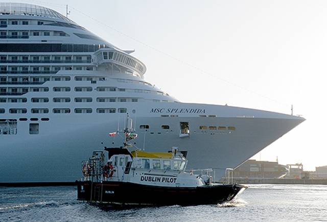 333m MSC Splendida Cruise Liner in Dublin Port