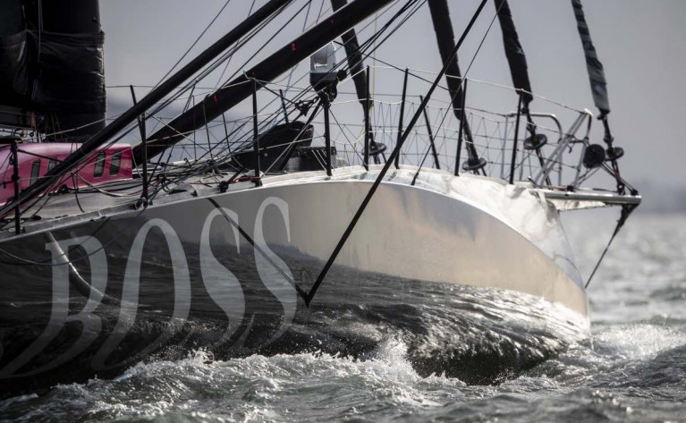 Alex Thomson's Hugo Boss leads the Vendee Globe race