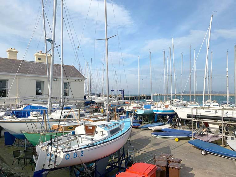 National Yacht Club Lift in of Boats Postponed at Dun Laoghaire Harbour