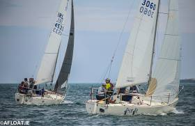 J24s racing at Volvo Dun Laoghaire Regatta on Dublin Bay