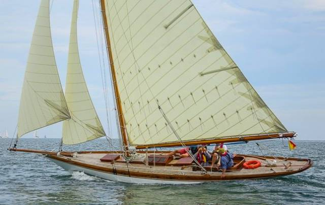 While there were hundreds of boats in the Volvo Dun Laoghaire Regatta 2017, the Welsh-based Myfanwy, built 1897, and restored by owner Rob Mason (at helm), deservedly attract special attention