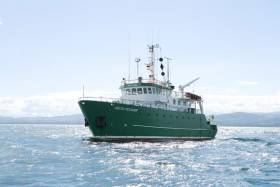 The RV Celtic Voyager is currently engaged in a survey of the Celtic Sea