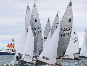GP14s contest a start at July's Volvo Dun Laoghaire Regatta