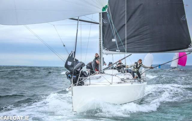 Howth Yacht Club J109 Outrajeous off Ballycotton in fourth place on IRC