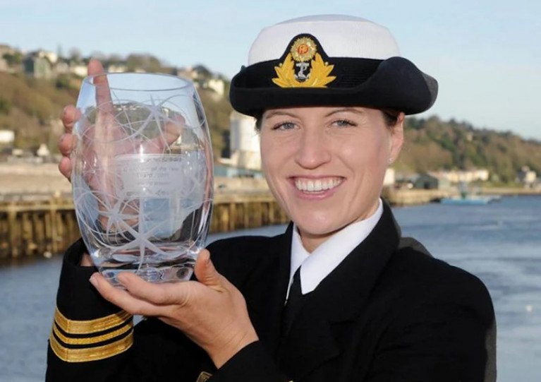Commander Roberta O'Brien pictured earlier this year before her promotion