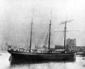 The Schooner 'Result' after completion in Carrickfergus 1893