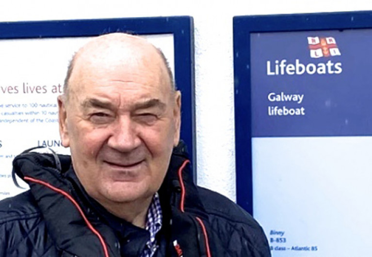John Killeen, the newly-elected Chairman of Irish Lifeboats, at his home station on the morning of Wednesday July 1st 2020