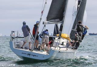 Colin Byrne's XP 33 Bon Exemple from the Royal Irish Yacht Club was the DBSC Cruiser 1 race winner