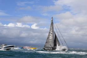 Thomson crossed the finish line at Pointe-à-Pitre in Guadeloupe at 08:10:58 local time (13:10:58CET) after 11 days, 23 hours 10 minutes and 58 seconds at sea