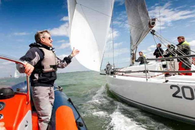 North Sails UK and Jim Saltonstall. Saltonstall is one of several highly respected experts offering free coaching advice to all, both on and off the water during the RORC Easter Challenge