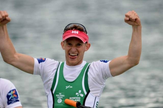 Gary O'Donovan, the fastest lightweight single sculler at the Ireland Time Trial.