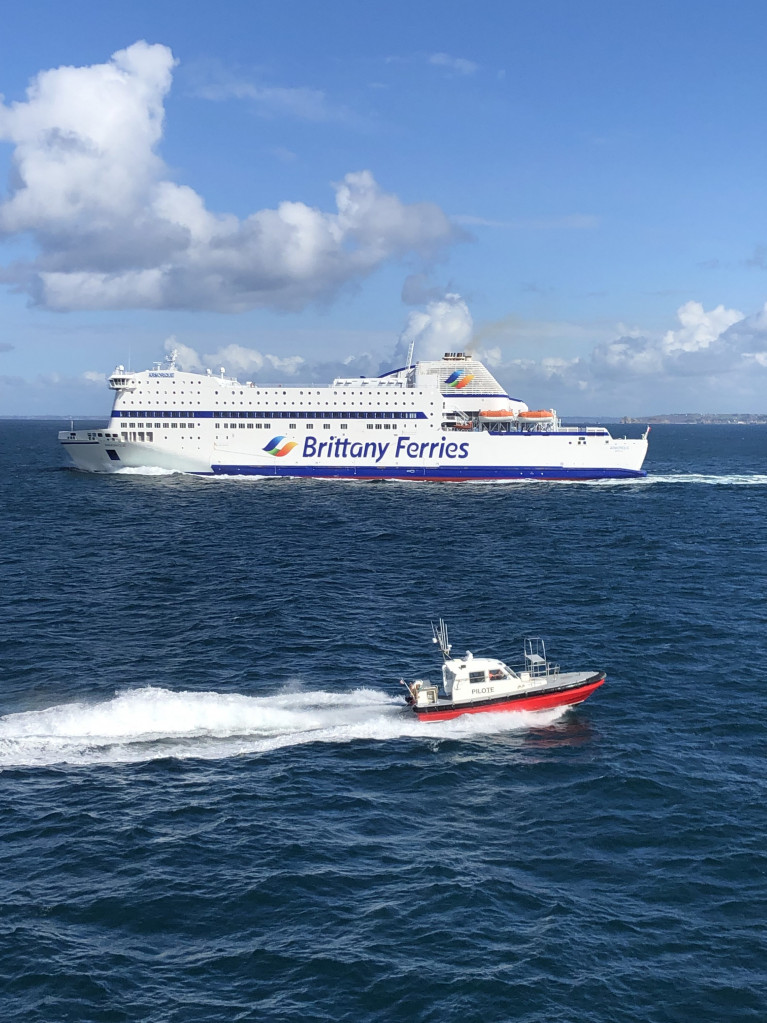 Major changes as Brittany Ferries is to lay-up two cruiseferries among them Armorique (above) currently serving Roscoff-Plymouth, due to a slump in passenger demand notably arising from the UK's Covid-19 quarantine from France. AFLOAT adds Armorique is scheduled to boost capacity on the Cork-Roscoff route (albeit in 2021) running in tandem with flagship Pont-Aven currently maintaining 'seasonal' sailings linking Ireland and France and remains unaffected with these latest operational changes elsewhere. Also above in French waters is a pilot cutter.