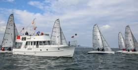 The Northern Ireland RS Elite fleet competing at the 2017 Dun Laoghaire Regatta