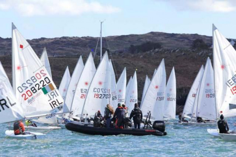Laser racing at Baltimore in West Cork