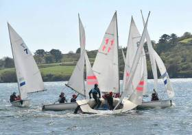 Ideal conditions in Schull for the School Team Racing Championships