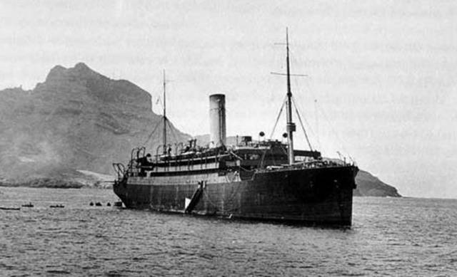 The Laurentic during her service in the First World War