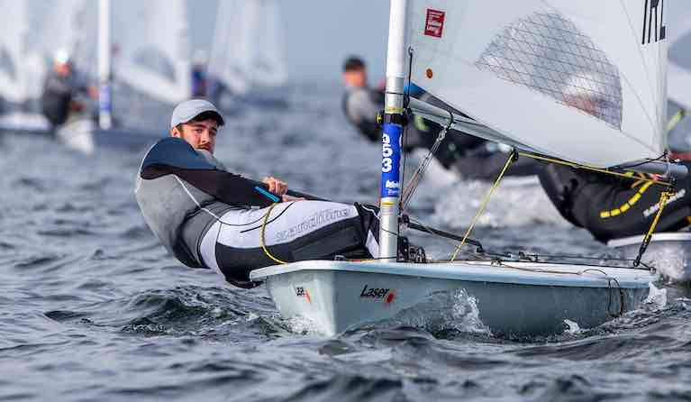 Finn Lynch is 28th after five qualification rounds at the Laser Euros in Gdansk Bay
