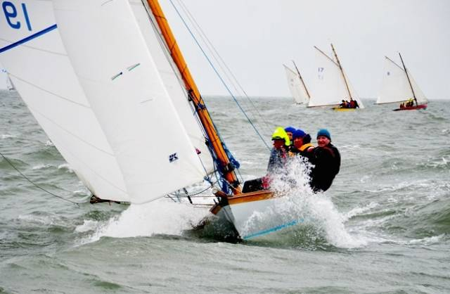 Never mind the weather, the sailing is great. The wind rises, the rain sets in, and the crew of the Howth 17 Isobel are having a ball in Saturday's race of the Beshoff Motors Howth Autumn League, in which they finished third in class
