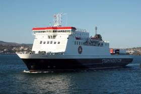 Ferry Ben-My-Chree has conducted berthing trials at Larne