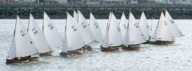 The Water Wags starting 12 boat-lengths back along the line were able to start at speed