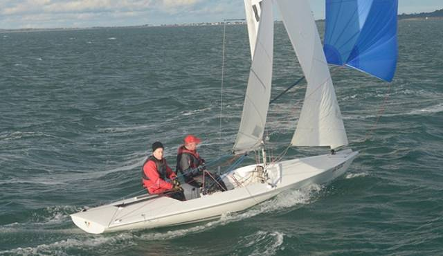 Flying Fifteen Ignis Caput Sailed by David Mulvin and Ronan Beirne of the National Yacht Club