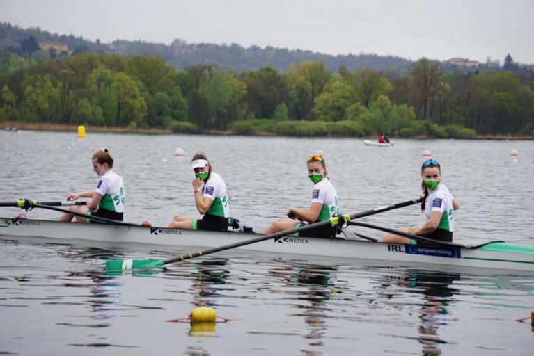 The Ireland Women's Four, European Silver Medallists