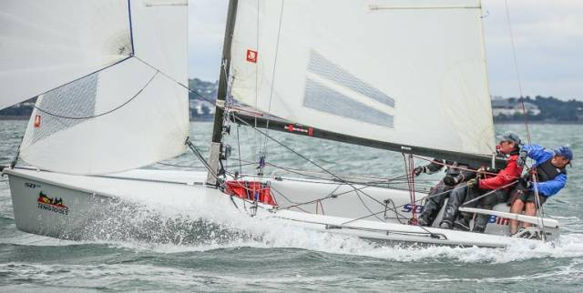In the final races of the DBSC season today, Sin Bin (Michael O'Connor) was the clear winner of the SB20 class on Dublin Bay