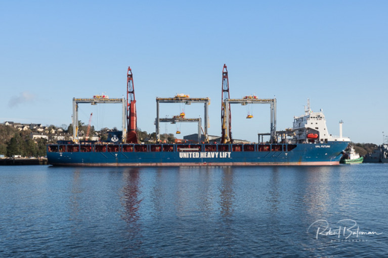 Second Heavy Lift Ship Arrives at Port of Cork for Liebherr Crane Consignment