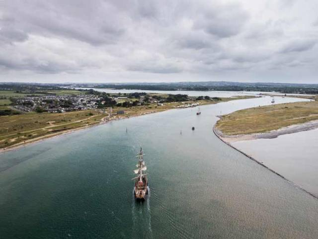 The Parade of Sail for the Maritime Festival began at the Mouth of the River Boyne at Drogheda