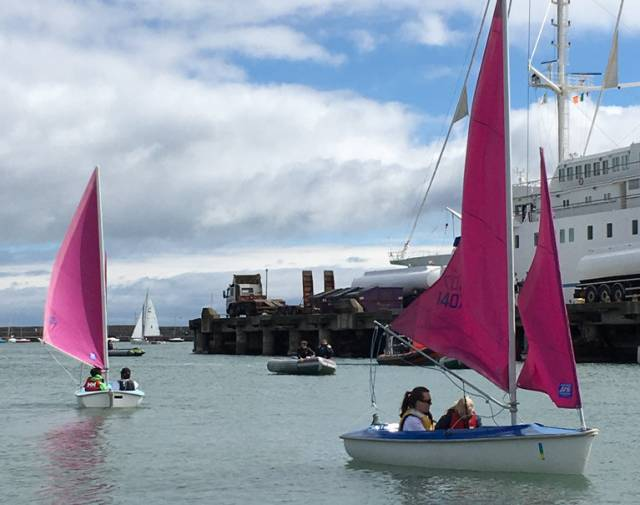 125 volunteers provided activities for over 220 participants at the inaugural Watersports Inclusion Games at Dun Laoghaire Harbour