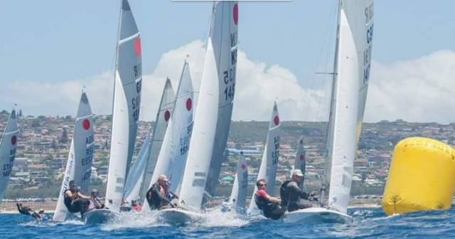 Lighter winds on Day three of the Fireball Worlds