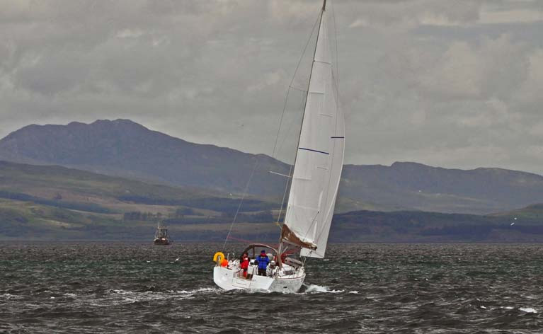 Day cruising off Jura in Scotland