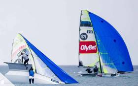 Four of five of Ireland's 49er campaigns are in action in Palma