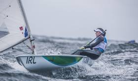Annalise Murphy is in Olympic Gold medal position after six races sailed