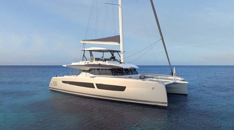 The new Fountaine Pajot 59 sailing catamaran