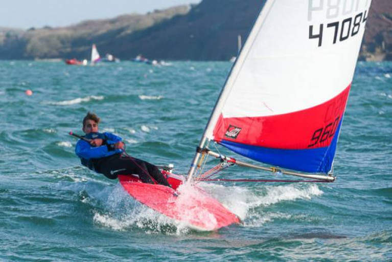 Club Topper racing at Royal Cork Yacht Club, the host venue for the 2021 Topper World Championships
