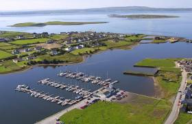 Kilrush marina on the Shannon estuary