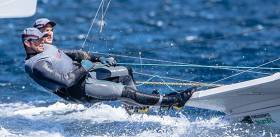 Northern Ireland's Ryan Seaton and Matt McGovern stay 17th after six races in the 49er class at Hyeres Olympic week