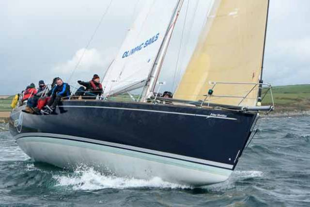 Tom Roche's Meridian won the St.Stephen's Day cruiser race at Kinsale Yacht Club for the Gunsmoke Bell