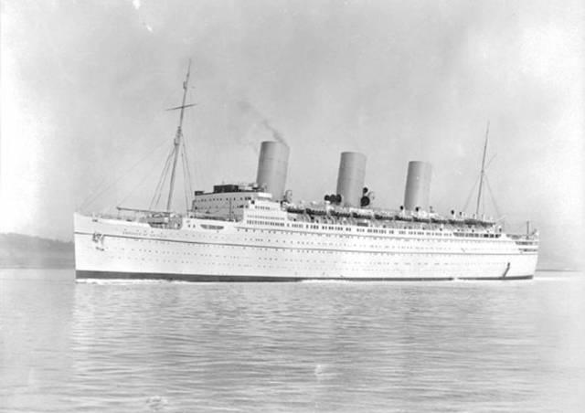 The Empress of Britain as seen in 1931. Nine years later it was bombed and torpedoed by the Nazis off Donegal