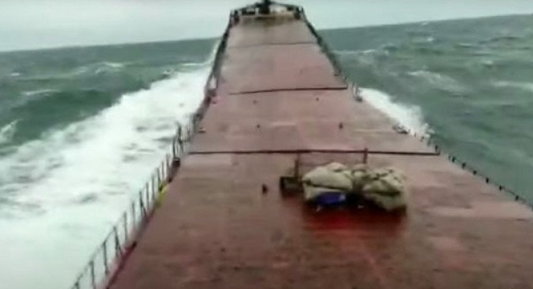 Cargo Ship 'Snaps in Half' During Storm (Video)