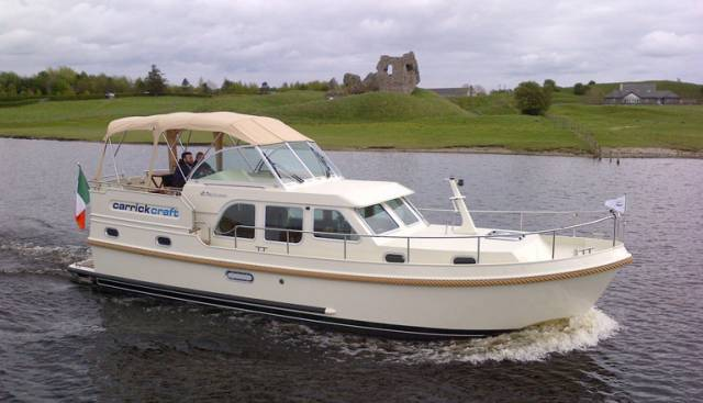 The Linssen Grand Sturdy 35.0 AC (10.70 x 3.40 m) out on the river Shannon from this weekend