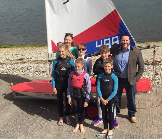 Toppers at East Antrim (L-R) Back row; Kelly Patterson, Nicola Williamson (event chairperson), Rory Williamson (sun glasses), Mathew Liddle and Michael Fairfowl (Blazin Digital). Front; Zoe Whitford and Charlie Patterson