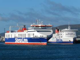 Freight and passenger ferries at Belfast, where Stena routes to England reported significant growth over past five years