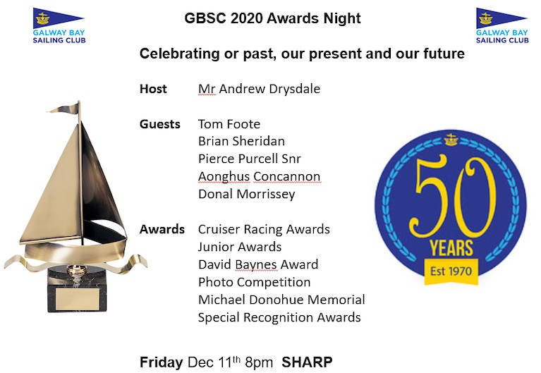 Galway Bay Sailing Club Celebrates Fifty Years at Awards Night