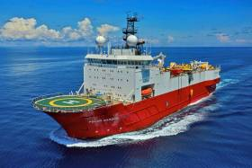 The seismic vessel Polar Marquis will be working off the south west coast for the next three months