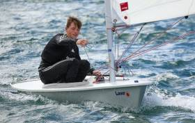 Royal Cork's Johnny Durcan is heading for the Youth Worlds in New Zealand in December having won the cut–short Laser championships in GBSC at the weekend